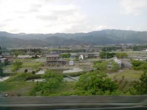 Un petit bout de paysage entre Tokyo et Osaka...