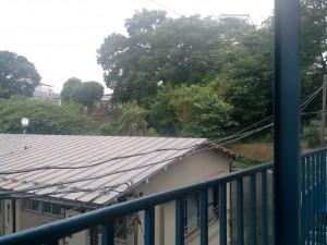 Vue depuis le balcon de la 105 au Fujimi...