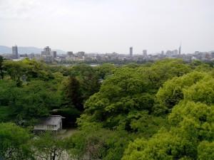 La vue sur la ville de Reina en haut de fortifications...